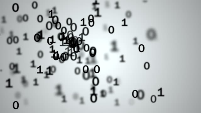 Binary Code Falling Numbers Matrix