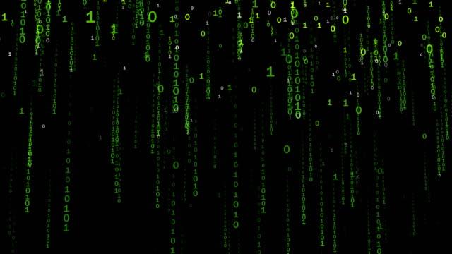 Binary Code Falling Numbers