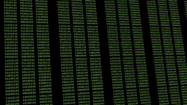 Binary code on computer monitor