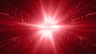 Binary Code Red Background Loop