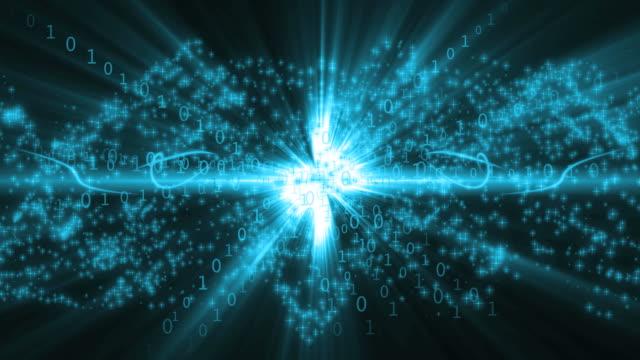 Binary Numbers Blue Background Loop