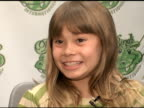 Bindi Irwin on her mom and dad Steve Irwin being her role models at the Bindi Wear International Launch at NULL in Las Vegas Nevada on August 28 2007