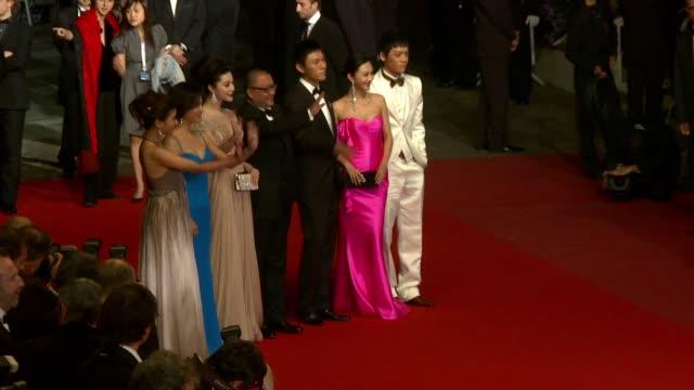 BingBing Fan Xiaoshuai Wang Hao Qin Li Feier Yi Zi and cast attend the Premiere of 'Chongqing Blues' at the Palais des Festivals during the 63rd...