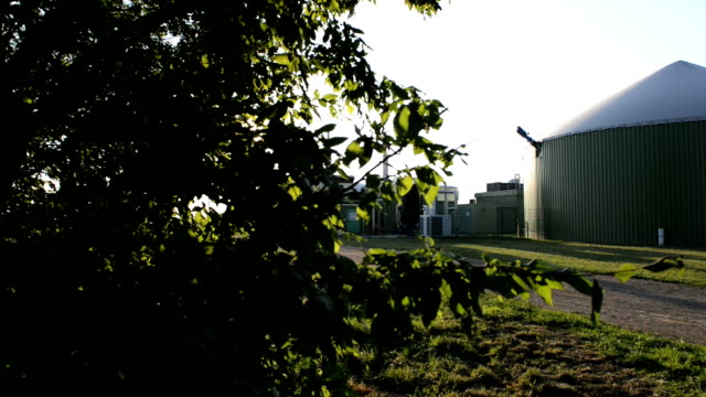Biogas fahren Biomasse-Dolly Schuss Energie.