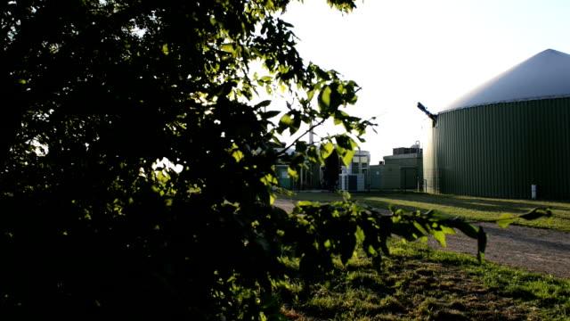 Biogas Biomass energy plant Dolly Shot.