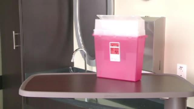 Biohazard Medical Waste Disposal Box on May 10 2011 in Dallas Texas