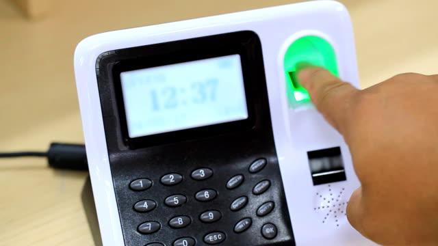 biometrics Fingerprint scan - concept of identity