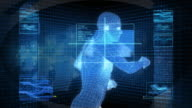 Bionic 3D Mann läuft (HD-Loop