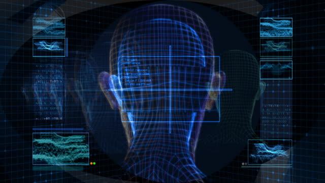 Bionic 3D Woman Profile (HD Loop)