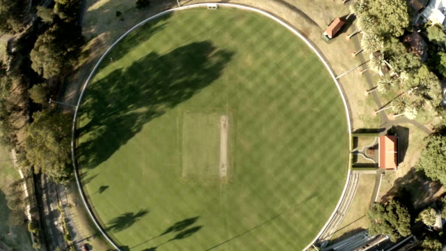 Birds eye view of cricket ground reveals to Sydney City