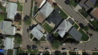 Bird's eye view of single family homes in a New Jersey suburb