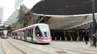 Birmingham Metro trains.