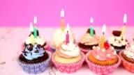Birthday cupcakes, Dolly shot