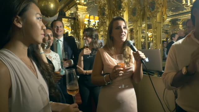 Birthday greetings from Spencer Matthews and Lady Ella Mountbatten at Sabrina Ho's birthday party at Oscar Wilde Bar Hotel Cafe Royal on September 12...