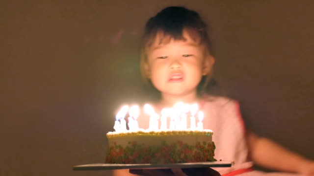 Birthday of the little girl