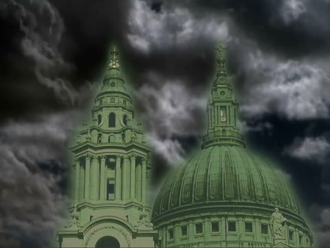 Bishop of London joins up with Mayor to launch 'greener churches' campaign London St Paul's Cathedral St Paul's Cathedral against SPEEDED UP TIME...