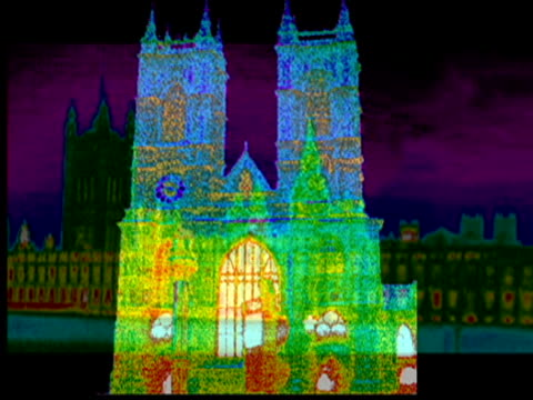 Bishop of London joins up with Mayor to launch 'greener churches' campaign TX Thermal Imaging pictures of London buildings