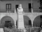 Larnaca Church / Greek flag on mast / LS Church / Statue of the late Bishop of Kitium Nicodemus INT Shots of Bishop of Kitium and church followers /...