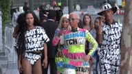 Blac Chyna and Amber Rose at the VMA Awards at LA Live in Los Angeles in Celebrity Sightings in Los Angeles