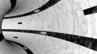 black and white concrete tunnel animation LOOP-READY