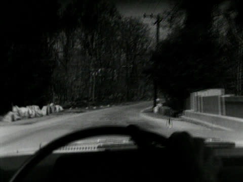Black and White driving SHot