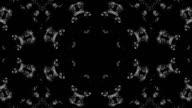 Schwarze und weiße mandala motion Grafik-loop