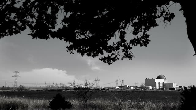 Black and White Nuclear Power Plant Wide