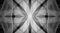 Schwarze und weiße spinning Kaleidoskop-Muster