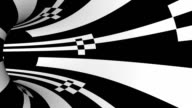 black and white striped tunnel animation