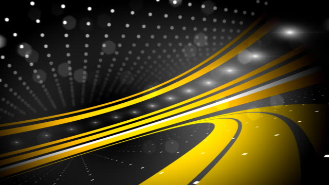 black and yellow abstract background loop stock footage