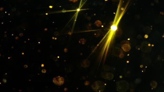 Black background Abstract Golden glitter glitzernden Schnee