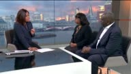 Black boys in London schools are nearly three times more likely to be expelled ENGLAND London GIR INT Diane Abbott MP and Dr Tony Sewell OBE STUDIO...