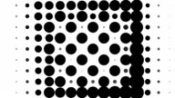 CHESSBOARD PATTERN : black dots, spiral progress, finally erased (TRANSITION)