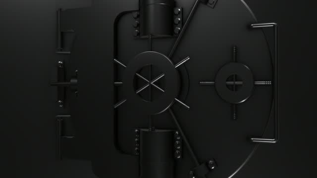 Schwarz glänzend Bank Gewölbe Tür schließen/4 K