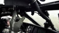 Black Hawk flying w/ windshield wipers.