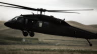 Black Hawk helicopter landing