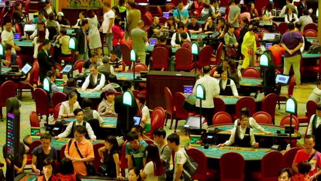 Black Jack Poker Tables Venentian Casino Macau China