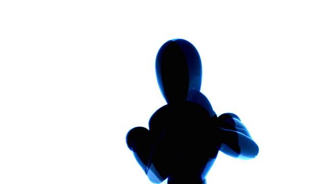 Black puppet dance