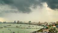 Black Stormy Rain Panning Timelapse