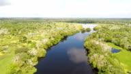 black water tributary of the amazon river, peruvian amazon, peru