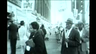 WGN Black Workers Picketing in Downtown Chicago for better work regulations and no mandatory double shifts in October 1961