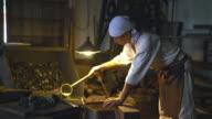 Blacksmith preparing his workshop