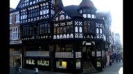 Social mobility in decline ENGLAND Cheshire Chester EXT **Copyright music overlaid SOT** General views of town including halftimbered buildings and...