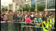 Blair says Corbyn can win an election Hampshire Southampton Jeremy Corbyn MP and others standing before crowd at rally as they chant 'Ooh Jeremy...