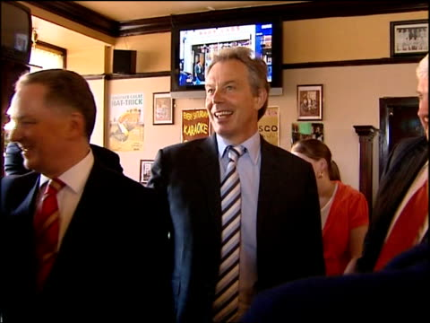 Govan Road Old Govan Arms EXT Blair McConnell and others entering pub Blair McConnell and others in pub chatting to customers and watching football...