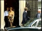 Blair/Bush meet at Camp David ITN London Downing Street Case containing guitar belonging to Prime Minister Tony Blair MP carried along PAN Prime...