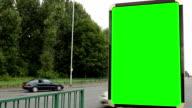 Leere Werbung Plakat (Selbstporträt)-grünen Bildschirm