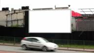 Blank Advertising Billboard (landscape)- White Screen