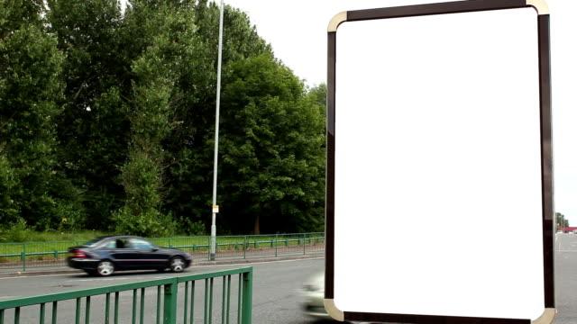 Blank Advertising Billboard (portrait)- White Screen