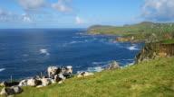 Blasket Sound Coastline Between Dunmore Head And Clogher Head